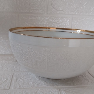Noritake - *ノリタケ特選ゴールドライン白磁盛り鉢