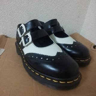ドクターマーチン(Dr.Martens)のドクターマーチン ADENA uk3 黒 白(ローファー/革靴)