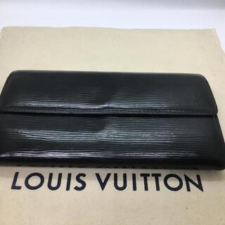 LOUIS VUITTON - ルイヴィトン エピ 二つ折り長財布  ブラック 新型