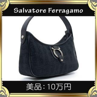 【真贋査定済・送料無料】フェラガモのハンドバッグ・正規品・美品・ガンチーニ