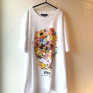 アーバンリサーチ(URBAN RESEARCH)のアーバンリサーチ  花柄ドクロ Tシャツ(Tシャツ(半袖/袖なし))