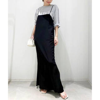 L'Appartement DEUXIEME CLASSE - L'Appartement 【OZMA】Silk Cami Dress◆ブラック