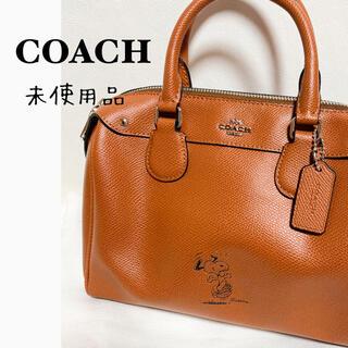 COACH - 【未使用品】coach スヌーピー レザーショルダーバッグ 革 ブラウン 茶