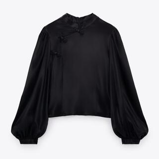 ZARA - 【タグ付き】ZARA トグル サテンシャツ