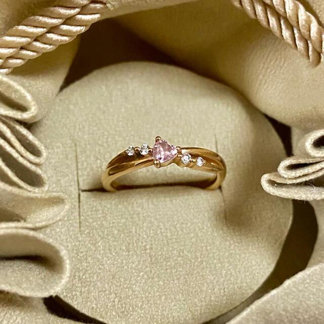 4℃(ヨンドシー)の4°C k10pg ハートリング  レディースのアクセサリー(リング(指輪))の商品写真