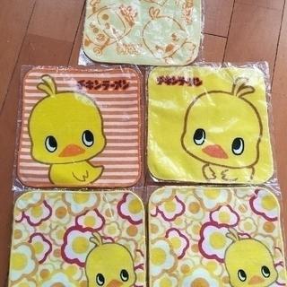 ニッシンショクヒン(日清食品)のチキンラーメン ハンドタオル 5枚(キャラクターグッズ)