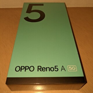 OPPO - 新品未開封 OPPO Reno5 A アイスブルー simロック解除 ①