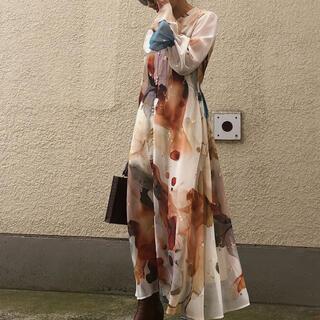 Ameri VINTAGE - アメリヴィンテージ UNDRESSED AMELIA INK ART DRESS