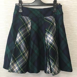 ジェーンマープル(JaneMarple)のJane Marple タータンチェック スカート グリーン系(ミニスカート)