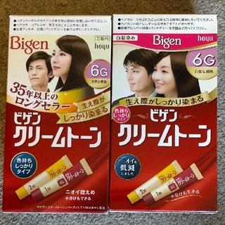 ホーユー(Hoyu)のビゲン クリームトーン 自然な褐色 6G 2個セット(白髪染め)