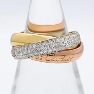 Cartier - 【仕上済】カルティエ トリニティリング 8号 ダイヤ 指輪 リング