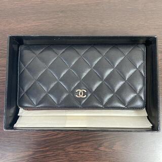 シャネル(CHANEL)のシャネル マトラッセ ココマーク 二つ折り長財布 箱付き(折り財布)