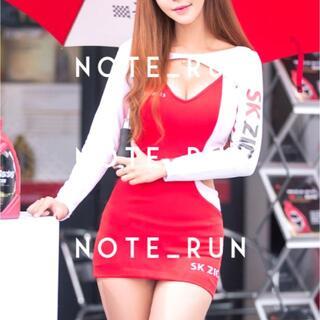 【xsk】コスチューム RQ レースクイーン 衣装 赤・白(衣装一式)