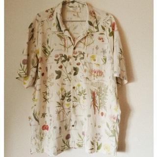 H&M - H&M メンズボタニカル柄半袖シャツ
