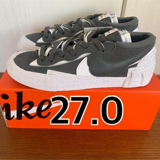 NIKE - sacai nike Blazer Low IRON GREY 27.0cm