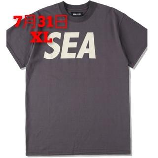SEA - SEA S/S T-SHIRT / CHARCOAL-BEIGE