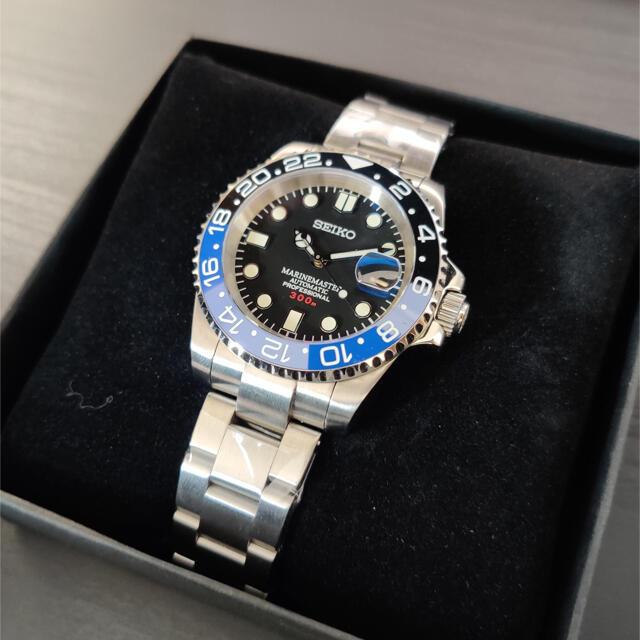 SEIKO(セイコー)の300M防水「MM300 GMTカスタム•バットマン」自動巻腕時計 メンズの時計(腕時計(アナログ))の商品写真