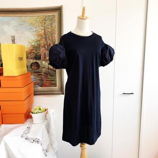 PRADA - 美品 PRADA プラダ 異素材 バルーン   ふんわりお袖 ワンピース ドレス