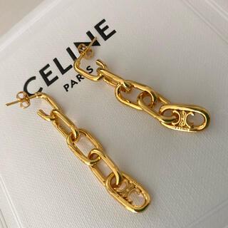 celine - CELINE セリーヌ マイヨントリオンフ チェーン ピアス ゴールド