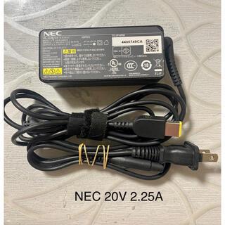 エヌイーシー(NEC)の☆送料込み☆中古純正NECのACアダプター20V 2.25A(PC周辺機器)