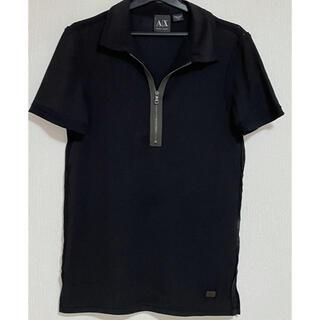 アルマーニエクスチェンジ(ARMANI EXCHANGE)の美品 ARMANI XCHANGE  アルマーニ ハーフジップ半袖Tシャツ(Tシャツ/カットソー(半袖/袖なし))