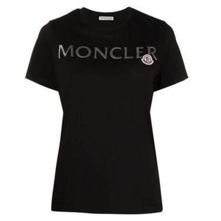 モンクレール(MONCLER)のモンクレール レディース MONCLERロゴ ワッペン付Tシャツ(Tシャツ(半袖/袖なし))