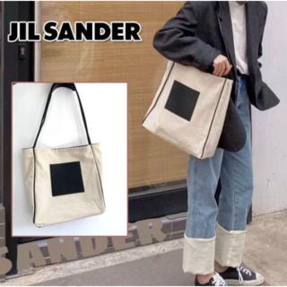 Jil Sander - 【最安値】 ジルサンダー Jil Sander キャンバストートバッグ