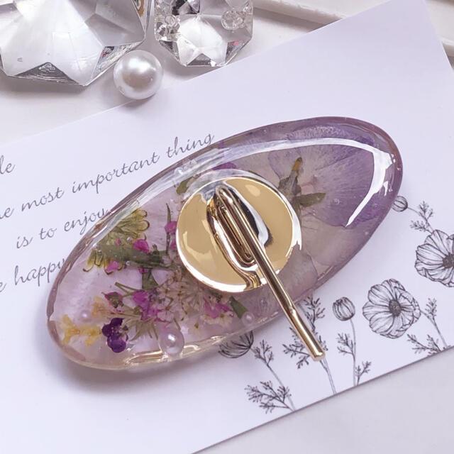 NEW✳︎flower〜ビオラ ポニーフック purple ハンドメイドのアクセサリー(ヘアアクセサリー)の商品写真