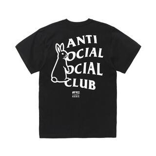 アンチ(ANTI)のFR2 ANTI SOCIAL SOCIAL CLUB BLACK XLサイズ(Tシャツ/カットソー(半袖/袖なし))