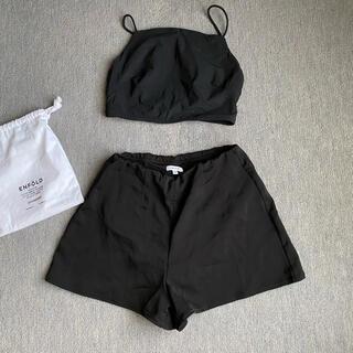 ENFOLD - 未使用 エンフォルド 水着 トップス パンツ 黒 ENFOLD