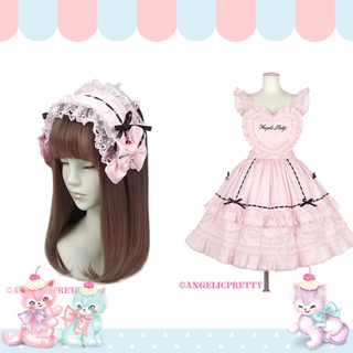 Angelic Pretty - angelic pretty Heart胸あて付きスカート2点セット