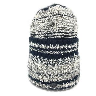 CHANEL - 新品同様 シャネル 06A ファッション小物 ニット帽 帽子 ブラック×グレー