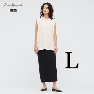 UNIQLO - ユニクロ エアリズムコットンスリットスカート マメクロゴウチ ブラック L