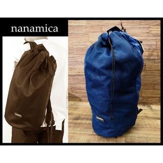 ナナミカ(nanamica)の新品 ナナミカ 20ss パッカブル リップストップ メッシュ デイパック 紺③(バッグパック/リュック)