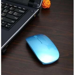999円→777円 ☆携帯性抜群☆ 超薄型 ワイヤレス マウス ブルー