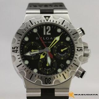 ブルガリ(BVLGARI)のブルガリディアゴノスクーバフライバッククロノSC40S【美品】(腕時計(アナログ))