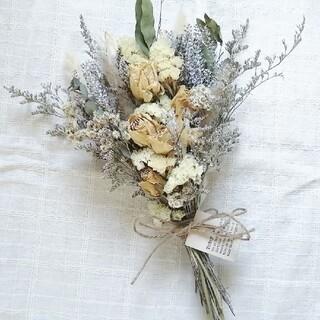 〈 SALE 〉アンティークバラと小花のナチュラルスワッグ