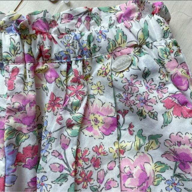 petit main(プティマイン)のプティマイン 110 花柄ドッキングTシャツ&タックバルーンショートパンツ キッズ/ベビー/マタニティのキッズ服女の子用(90cm~)(Tシャツ/カットソー)の商品写真