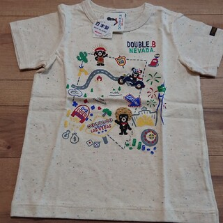 DOUBLE.B - 新品 未使用  DOUBLE.B Tシャツ 110cm