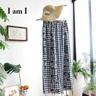 I am I - 新品 IamI アイアムアイ チェック リラックス パンツ