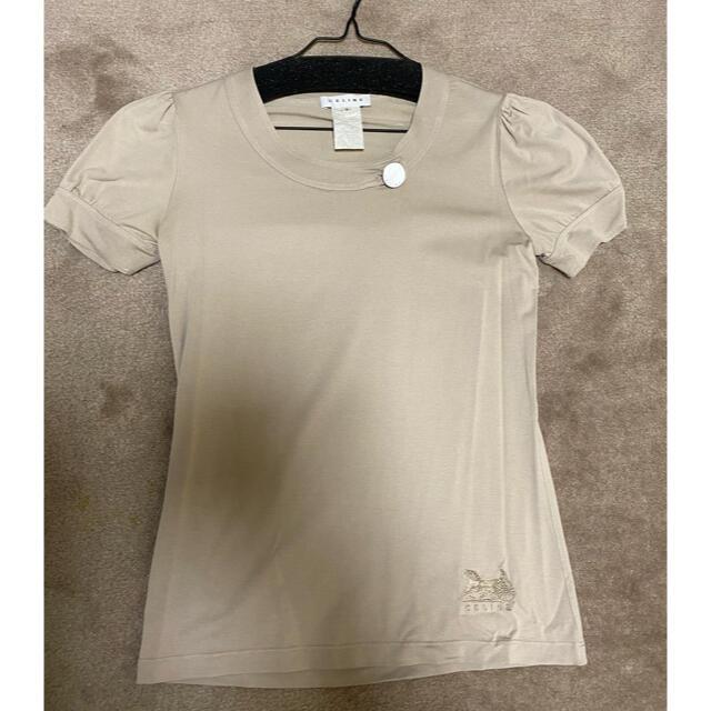 celine(セリーヌ)のOLD CELINE 半袖 カットソー Tシャツ ベージュ レディースのトップス(Tシャツ(半袖/袖なし))の商品写真