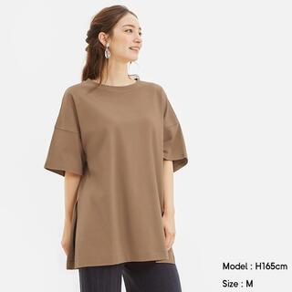 GU - GU ディープスリットTシャツ