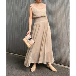 Ameri VINTAGE - MEDI SMOCKING LAME DRESS