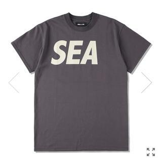 SEA S/S T-SHIRT CHARCOAL-BEIGE L
