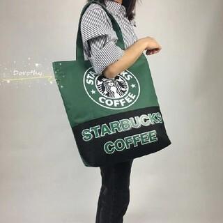 Starbucks Coffee - 【スターバックス】海外限定 トートバック エコバック マザーズバック 黒/緑