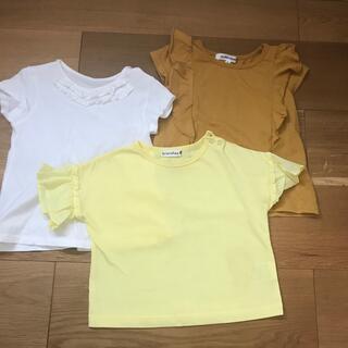 ブランシェス(Branshes)の女児90cm Tシャツ3枚セット(Tシャツ/カットソー)