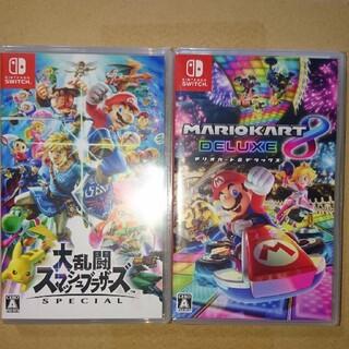 Nintendo Switch - 大乱闘スマッシュブラザーズ マリオカート8デラックス  switch ソフト