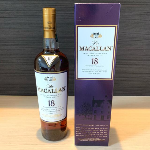 マッカラン18年 新品 箱付き 食品/飲料/酒の酒(ウイスキー)の商品写真