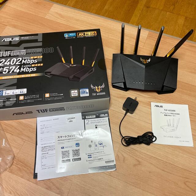ASUS(エイスース)の超美品!TUF AX3000 ASUS WiFi6対応 無線 ルーター スマホ/家電/カメラのPC/タブレット(PC周辺機器)の商品写真