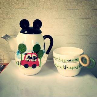ミッキーマウス(ミッキーマウス)のポット カップセット ミッキーマウス(キャラクターグッズ)